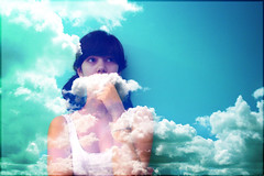 NOT AMAMAK (amamak photography!) Tags: blue selfportrait me clouds self skies day49 365days artzyviva cloudmustache loveee3