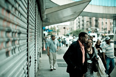 Couple (patrickjoust) Tags: new york city urban usa bus america canon lens eos 50mm prime us washington focus flickr manhattan united over patrick adapter depot 5d interstate states manual nikkor 50 heights joust ai f12 estados unidos 50mmf12ai lovelycity cityskip patrickjoust