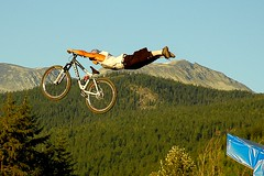 Andrieu Lecondeguy (andy_c) Tags: bike bicycle whistler cycling jump nikon bc britishcolumbia mountainbike bikes mtb crankworx freeride dirtjump bearback