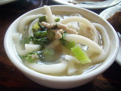 shredded pork with salted cabbage noodle soup @ M Shanghai Bistro