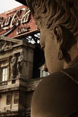 Statue (Michele Di Sei) Tags: brussels sky statue canon hotel belgium metropole colcacola