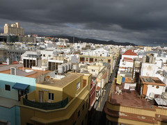The city roof 1 (Artstudios's) Tags: africa city houses white building art nature grancanaria architecture buildings studio lowlight colours picture gimp canarias olympus fotos tenerife pixels laspalmas efects concret lpa canaryisland laspalmasdegrancanaria artstudios olympussp570uz