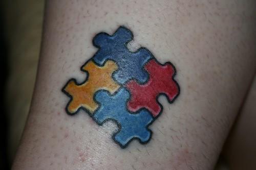 puzzle. tattoo