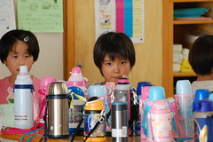 Thermos Girl (Mszczuj) Tags: school girls boy boys students girl japan children japanese tokyo student education classroom class learning okinawa schoolchildren higher thermos institution achieve regimen