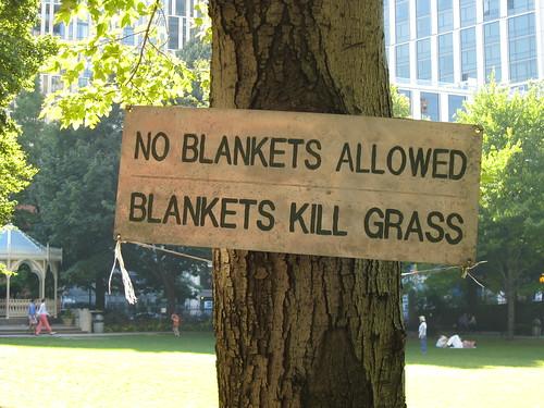 Blankets Kill Grass