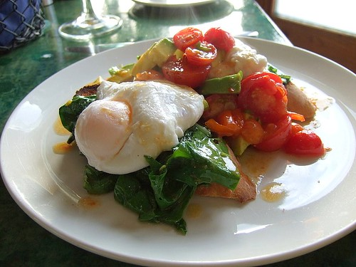 Cafe Paradiso poached eggs 1