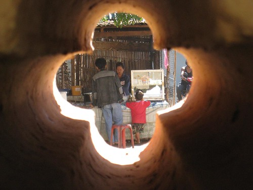 Old peephole in the defensive wall around the Wat