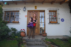 Riona outside Mara´s house