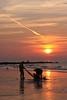 sunset Oostende (Nupilein) Tags: sunset beach clouds strand noordzee oostende golfbreker kruien