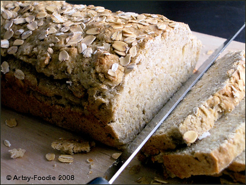 Oatmeal bread closer