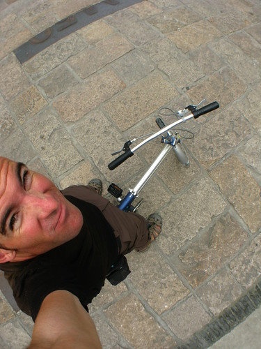 On a bike for the first time in months in Shanghai, China