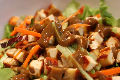 Tofu Salad with Spicy Sesame Dressing