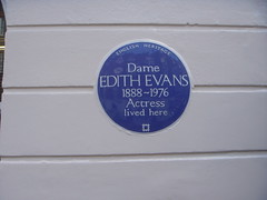 Photo of Edith Evans blue plaque