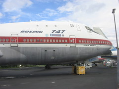 "Boeing 747-100 prototype ""The City of Everret"" (wbaiv) Tags: seattle plane airplane flying aircraft machine museumofflight boeing heavy 747 jumbo doubledeck twinaisle 4engine fourengine"