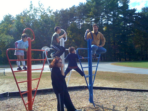 Hanging around the playground