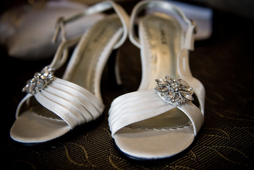 Liza and Phil's Wedding - Exquisite bride's shoes