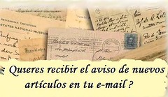 REcibirás en el correo electrónico el aviso de la publicación de nuevos artículos