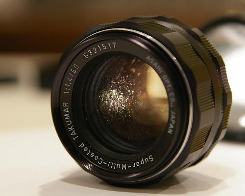 Contoh fungus pada lensa.