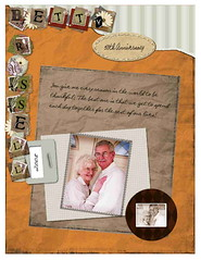 Russel and Betty Scrapbook Page (Krista Gabbard) Tags: collage portraits vintage scrapbook words anniversary 50th