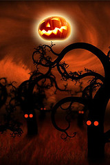 Moon of halloween night wallpaper for iphone