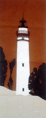 Marushka - white lighthouse on rust