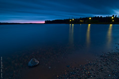 Pink and blue (Rob Orthen) Tags: longexposure sky lake reflection rock suomi finland landscape nikon europe scenic rob tokina scandinavia kivi maisema vesi sysm syksy pinta d300 jrvi pijnne 1116 nohdr orthen lakefinland roborthenphotography tokina1116 tokina1116mm28