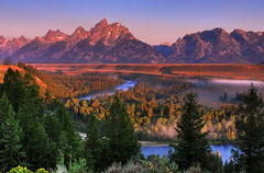 Morning at the Overlook (Jeff Clow) Tags: wyoming grandtetonnationalpark vob jeffclow snakeriveroverlook jacksonholewyoming mywinners jeffrclow