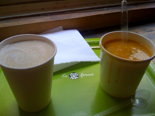Soup and coffee