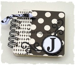 Black & White Personalized Post It Notes Holder