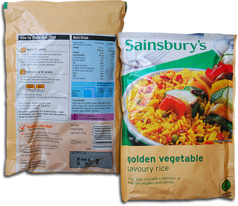 Sainsbury's Golden Vegetable Savoury Rice