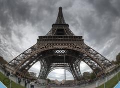 Eiffel tower, Paris, France :: Fisheye :: HDR (Erroba) Tags: paris france clouds photoshop canon rebel belgium tripod eiffeltower sigma eiffel fisheye tips remote erlend hdr cs3 10mm tourdeiffel blueribbonwinner 3xp photomatix tonemapped tonemapping outstandingshots xti 400d abigfave platinumphoto diamondclassphotographer flickrdiamond citrit lookatthesizeofthatthing theperfectphotographer goldstaraward erroba robaye erlendrobaye francesmasterpieces lightiq obramaestra