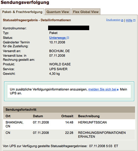 Reiseplan MacBook, Tag 1