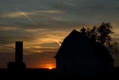 Maple summit silhouette (Bonnie Mac Photography (hope_2day)) Tags: trees sunset sky colour fall silhouette clouds barn nikon farm silo autumnsun nikond200 flickrsbest anawesomeshot excapture maplesummitfarm