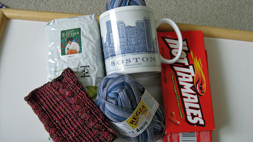Starbucks and Yarn Swap Contents