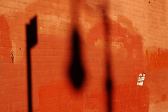 Shadows (seanjonesfoto) Tags: nyc red abstract color d50 50mm nikon shadows manhattan nikkor f18 greenwichvillage