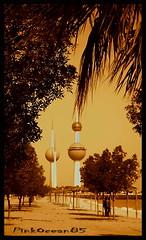 Kuwait Towers :) (Aisha Altamimy) Tags: sea gulf towers kuwait arabiangulf q8 ابراج الكويت كويت بحر شجر ابراجالكويت الخليجالعربي ozq8
