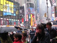Times Square, rain (Dan_DC) Tags: nyc newyorkcity manhattan rain timessquare people street city urban urbanscene streetlevel candid gaudy rainy raininthecity inclementweather