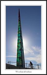 Obelisco Millenium - A corua (Dani_vr) Tags: light espaa tower art luz canon 350d corua torre millenium galicia obelisco