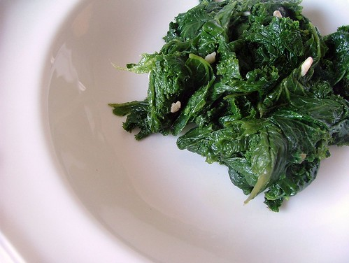 Braised Mustard Greens with Garlic