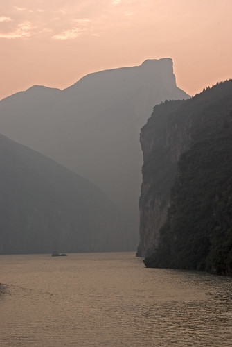 Three Gorges Sunrise- Qutang Gorge on the Yangzi