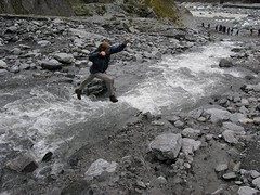 me crossing a stream