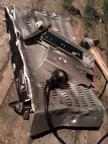 Smashed up set top box 1