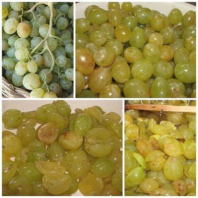Confettura d'uva bianca - preparazione