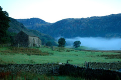 Morning Mist (eljohno) Tags: mist mountains weather misty barn countryside spring farm lakedistrict foggy farmland derelict langdale abandonedbarn abandonedfarm derelictbarn derelictfarm