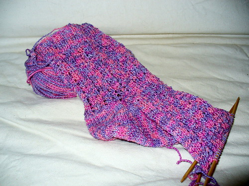 Samantha's socks in progress 2
