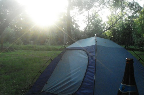 tent and sun