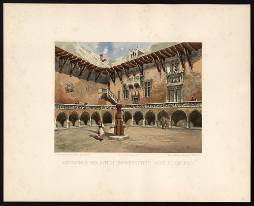008-Patio de la biblioteca de la Universidad Jagiellonian-1886