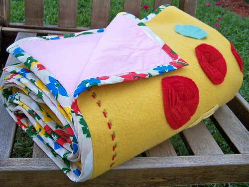 Yellow Blanket Throw Backing by you.