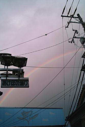 あけぼの通りに虹が出る