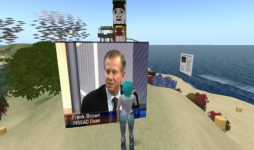 Frank Brown interview on INSEAD's Second Life campus